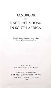 Handbook on Race Relations