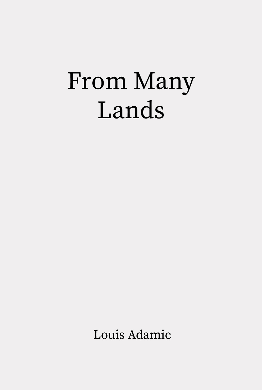 Cover of From Many Lands