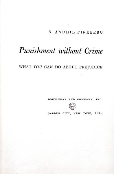 Cover of Punishment Without Crime