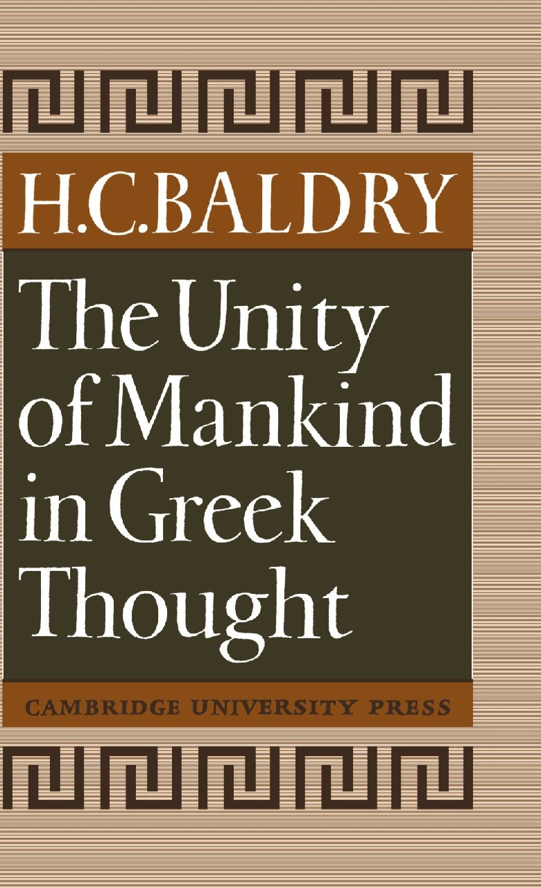 Cover of The Unity of Mankind in Greek Thought