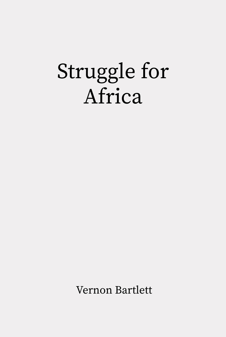 Cover of Struggle for Africa