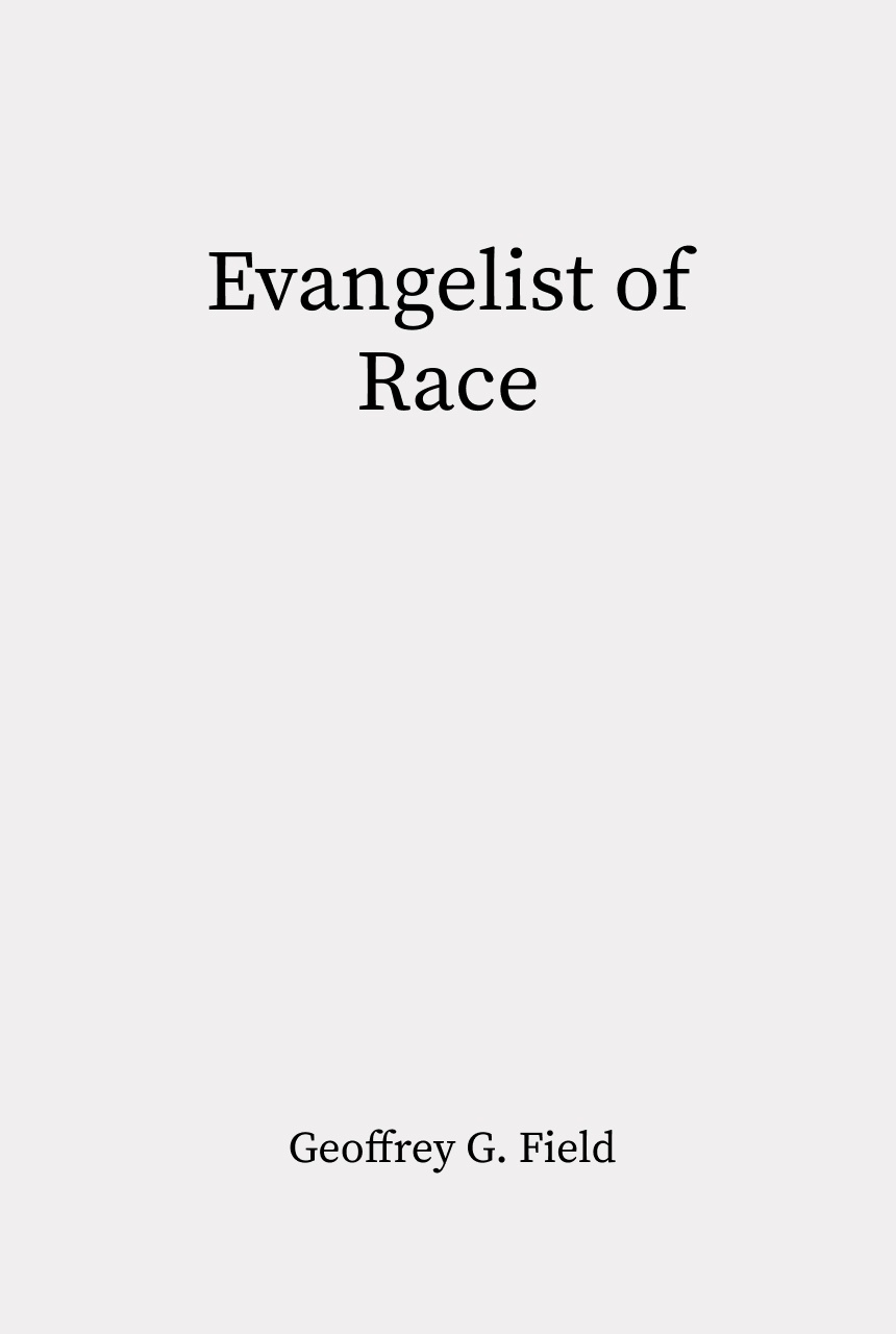 Cover of Evangelist of Race