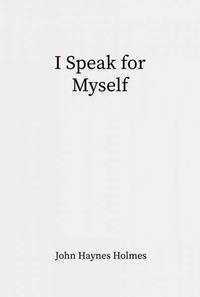 Cover of I Speak for Myself
