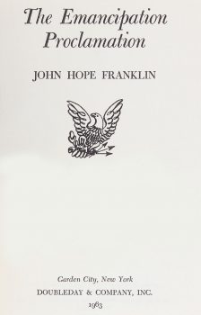 Cover of The Emancipation Proclamation (1963)