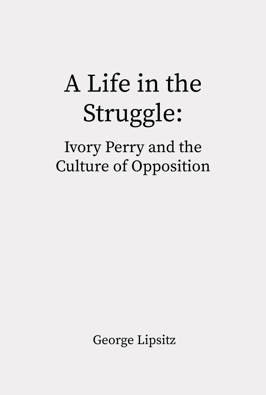 Cover of A Life in the Struggle