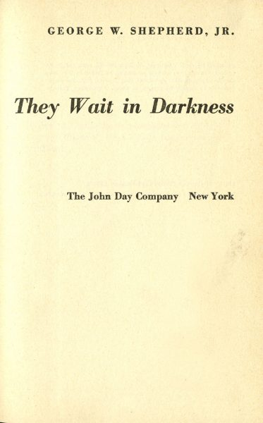 Cover of They Wait in Darkness