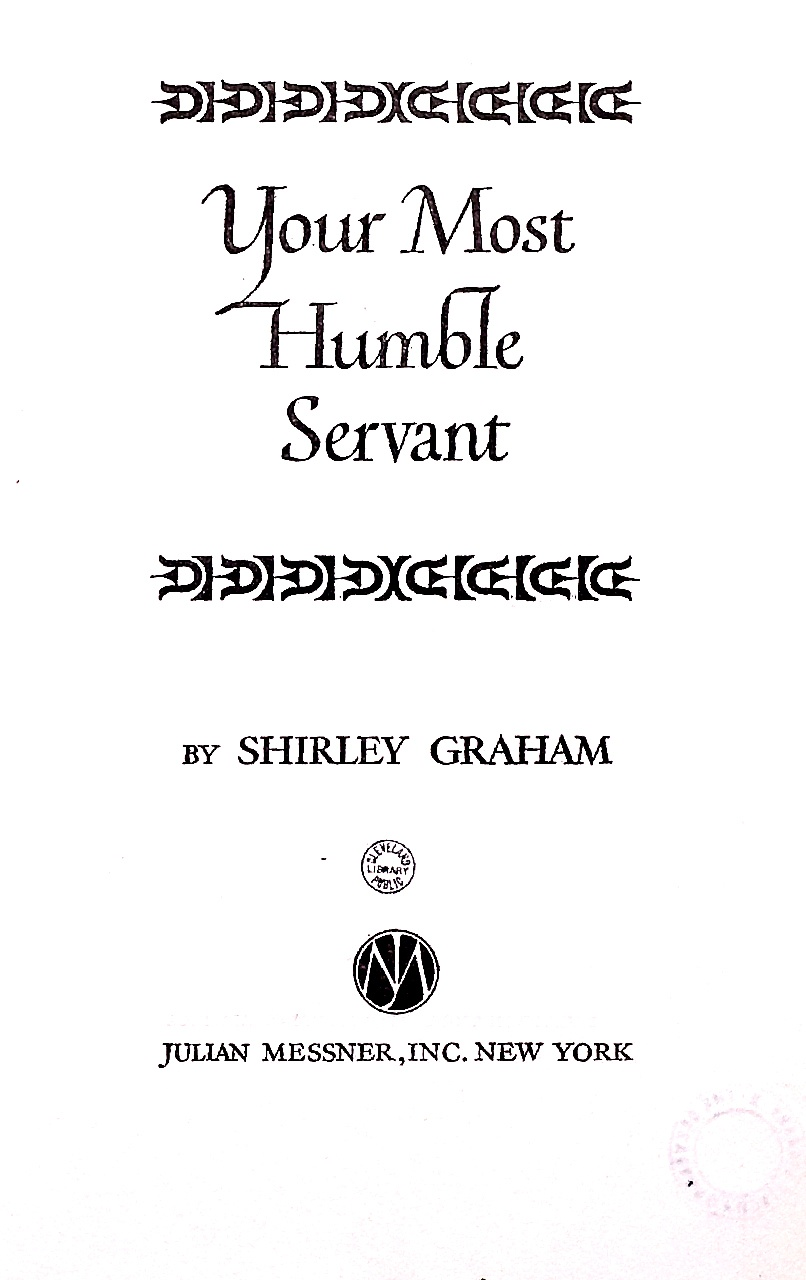 Cover of Your Most Humble Servant