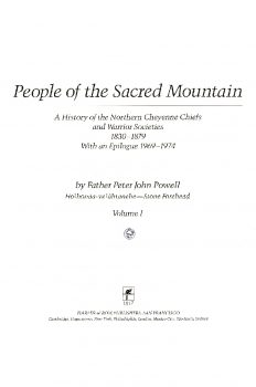 Cover of People of the Sacred Mountain