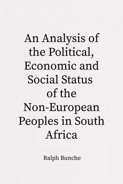 Cover of Non-European Peoples of South Africa