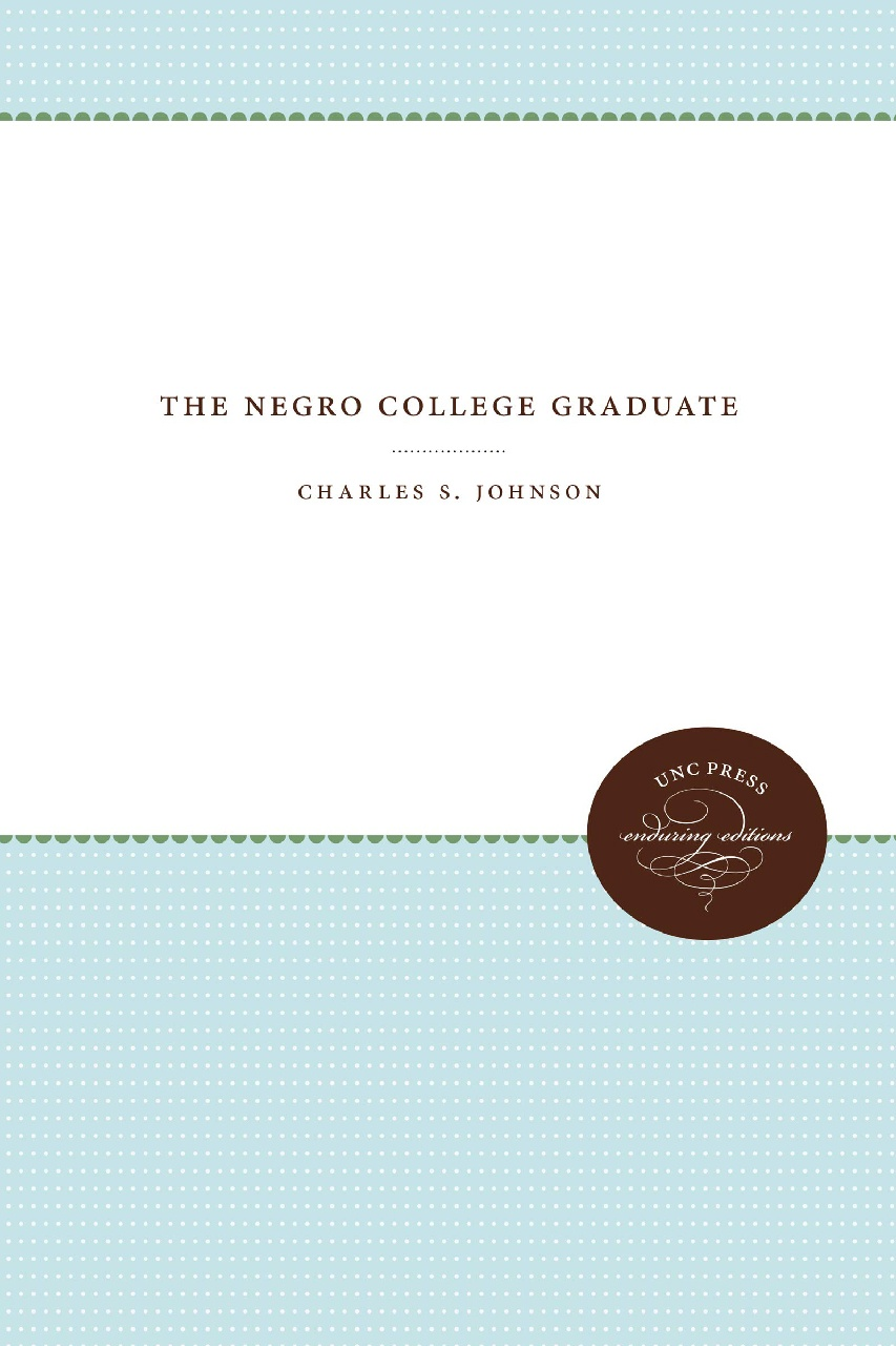 Cover of The Negro College Graduate